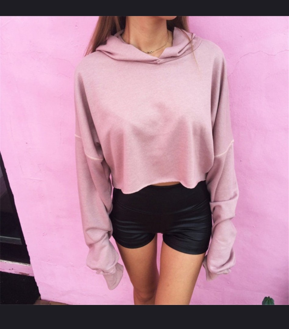 Cropped Pink Long Sleeve M
