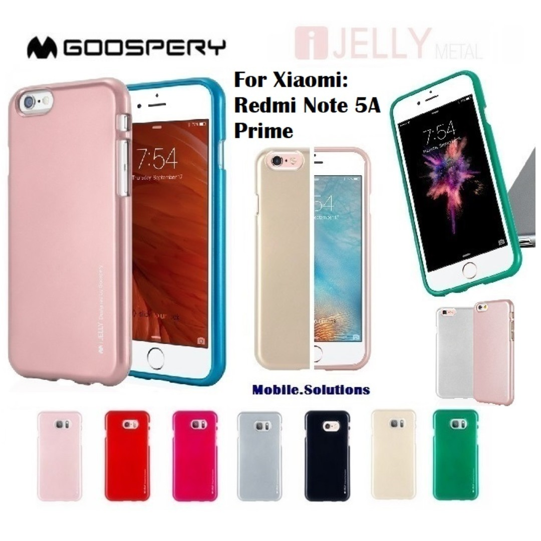 Goospery Xiaomi Redmi Note 5a Prime I Jelly Metal Case Mobiles Samsung 5 Hybrid Dream Bumper Red Tablets Mobile Tablet Accessories On Carousell
