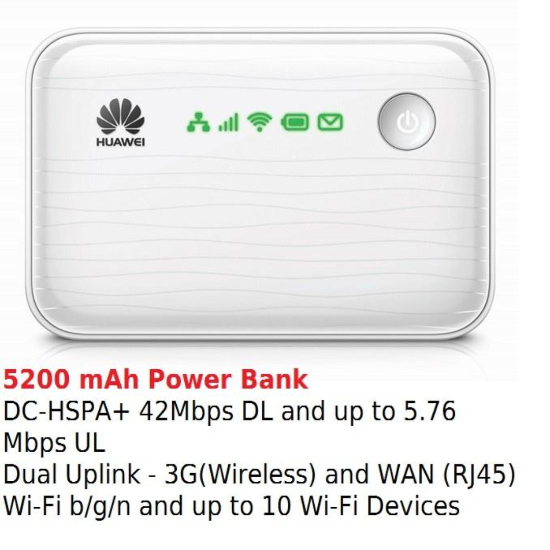 Huawei E5730 mobile wifi Router & power bank