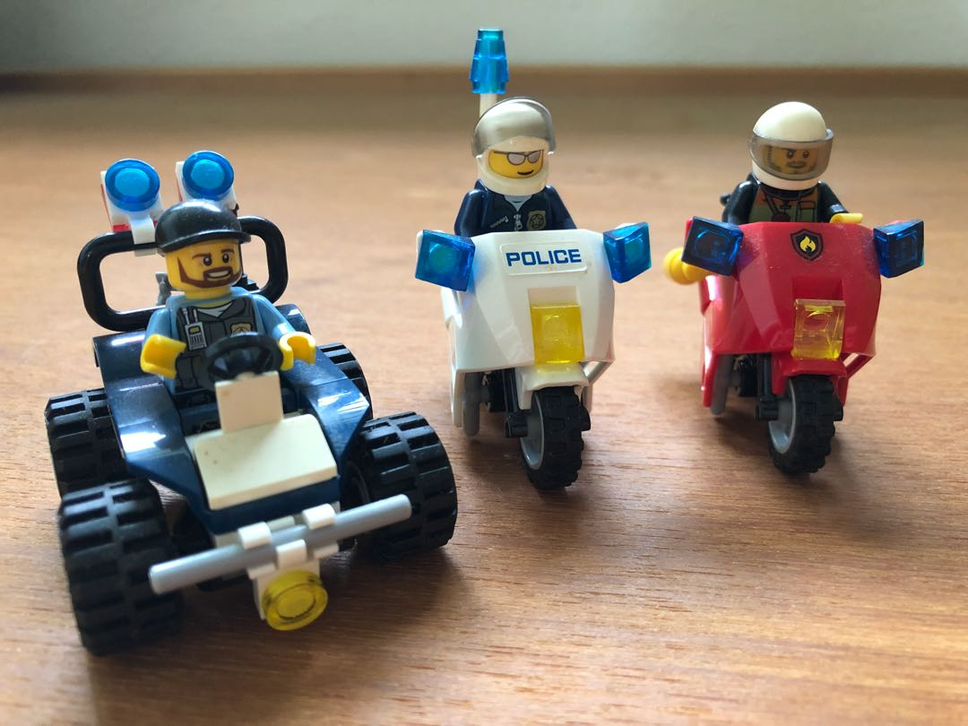 Lego City Assorted Vehicles With Police Minifigures Toys Games