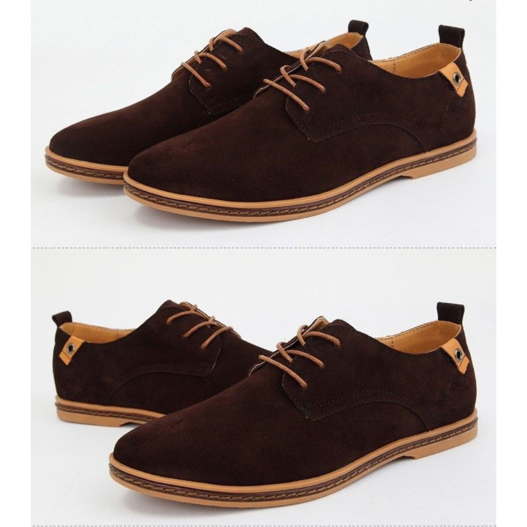 0fbc47d6db Men Oxfords Casual Shoes Suede European Style Leather Shoes Lace Up ...