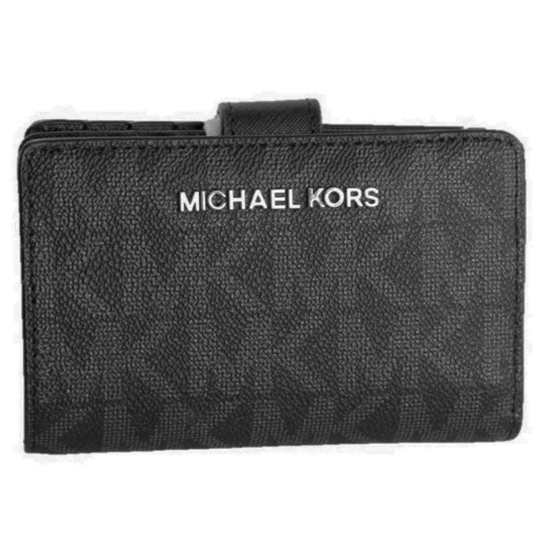de701df3281fb Michael Kors Jet Set Travel Bifold Wallet In Siganture Black