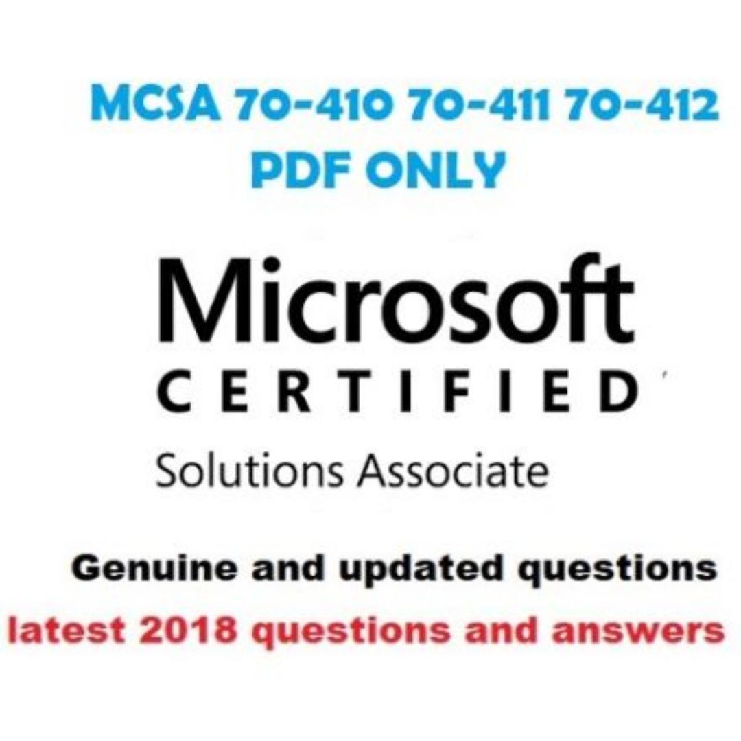 Microsoft Mcsa 70 410 70 411 70 412 Exam Qa 2018 Pdf Books