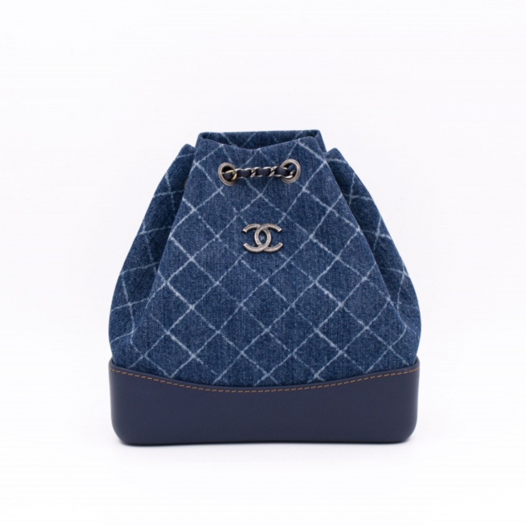 (NEW) CHANEL A94485 Y83393 SMALL DENIM GABRIELLE BACKPACK FABRIC BACKPACK  全新背包藍色 7d9647bc2444c
