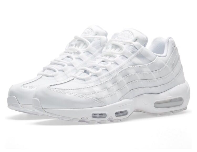 a35bcbadcc4de Nike Air Max 95 in White, Women's Fashion, Shoes, Sneakers on Carousell