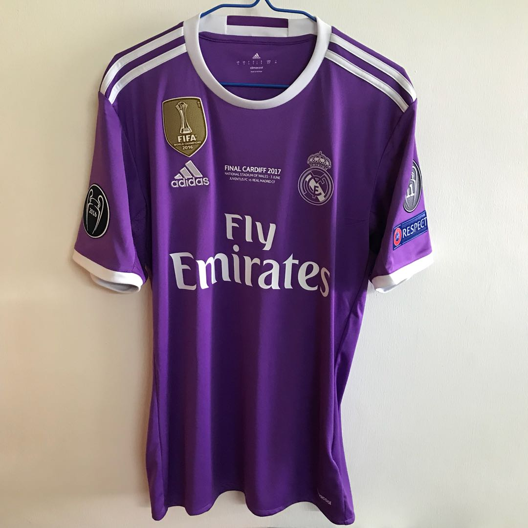 finest selection 5afb8 91e30 Official Authentic ADIDAS Real Madrid 2016-2017 Away ASRNSIO ...