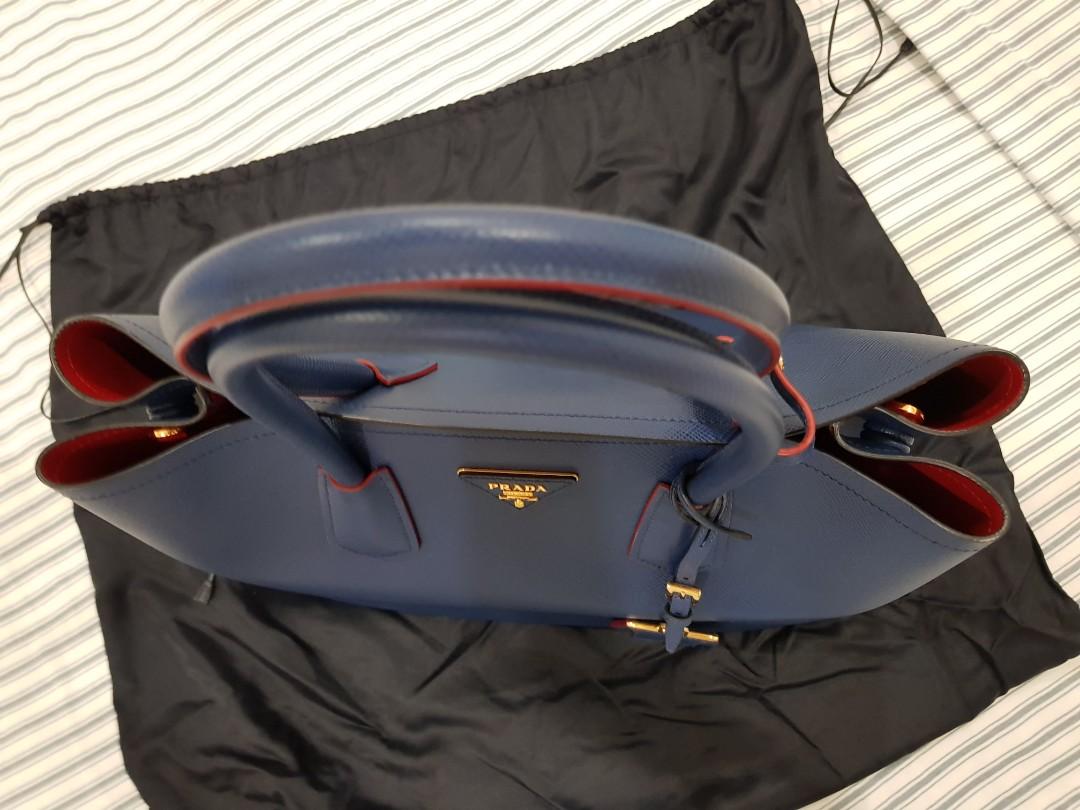 f99a7627efd Prada Saffiano Cuir Double Bag, Women's Fashion, Bags & Wallets, Handbags  on Carousell