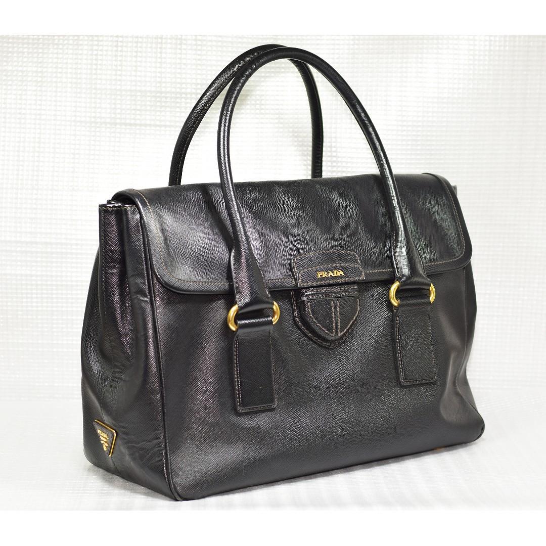 a2fadbff4a2e Prada Saffiano Full Leather Tote Handbag, Luxury, Bags & Wallets ...