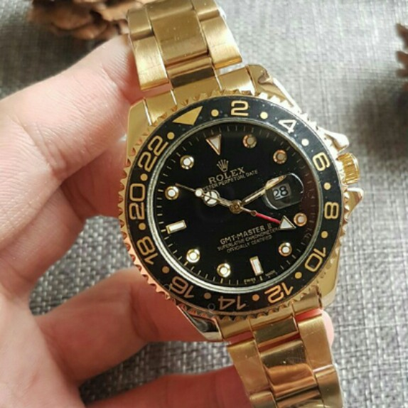 Rolex Gmt Master Ii Oyster Perpetual 40mm 18k Two Tone Black Dial
