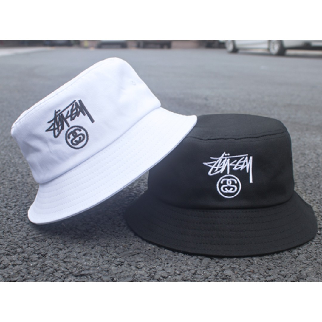 Stussy Embroidered Double S Bucket Cap Hat 01ee2098fcc