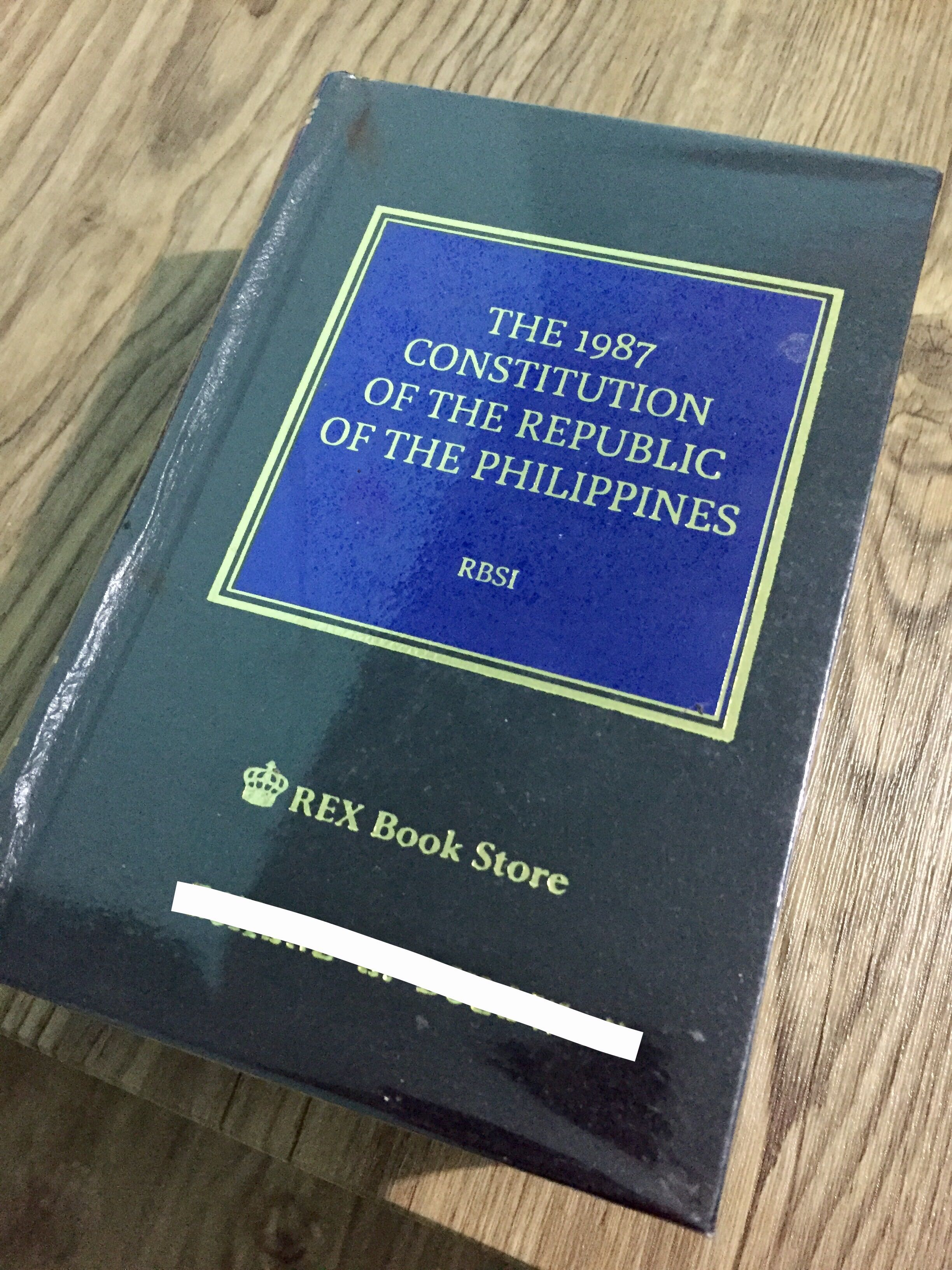 The 1987 Constitution Of Philippines RBSI Textbooks On Carousell
