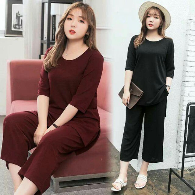 cad751716dc90 🍃Top   Loose Pants Plus Size Terno