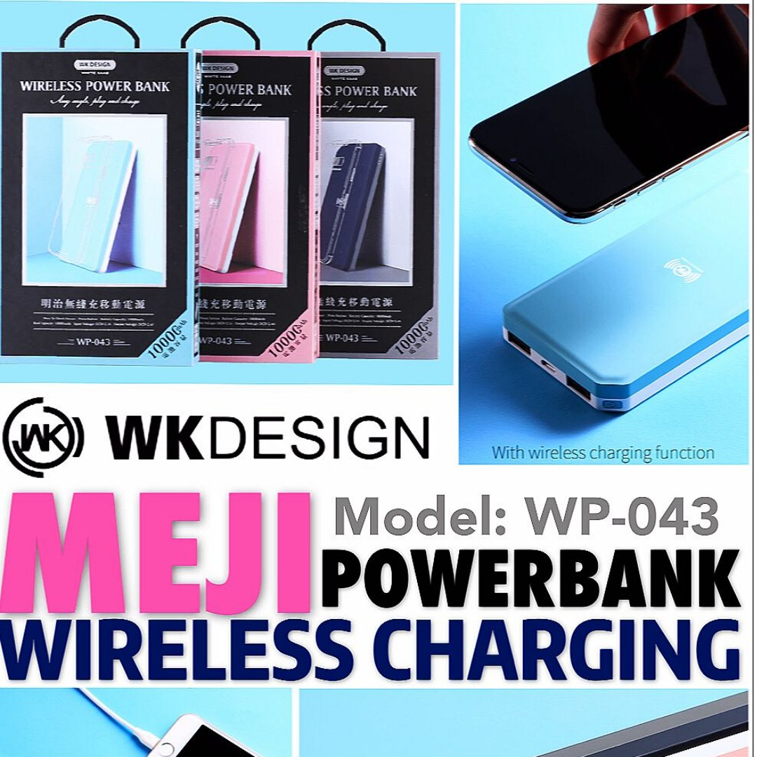 WK DESIGN MEJI 10000mAh Wireless Powerbank (WP-043), Mobile Phones ...