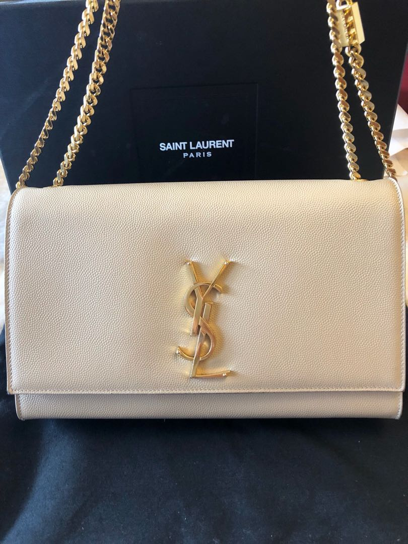 Ysl Saint Lauren Medium Kate Bag Handbag Clutch Chain