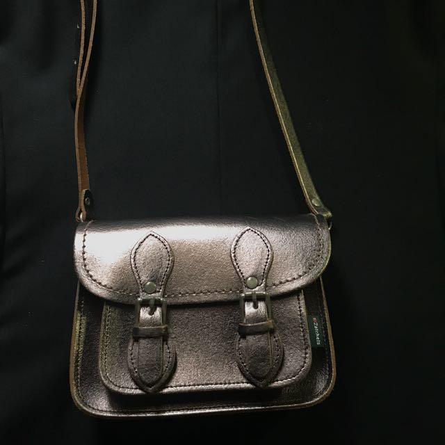 87faef5447fe Zatchels Bronze Leather Mini Satchel, Women's Fashion, Bags ...