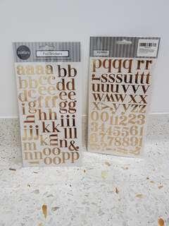 Gold Foil Alphabet Stickers