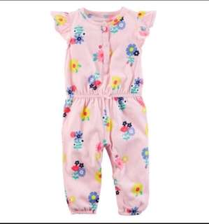 *6M* BN Carter's Floral Jumpsuit For Baby Girl