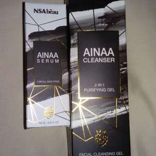 Ainaa Serum & cleanser
