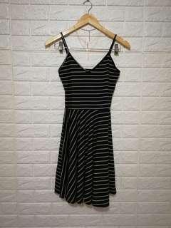 Stripe dress soft stretchable casual wear