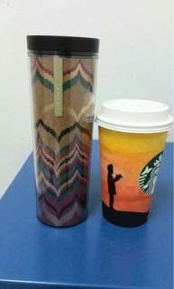 Starbucks tumbler & master piece hand crafted cup