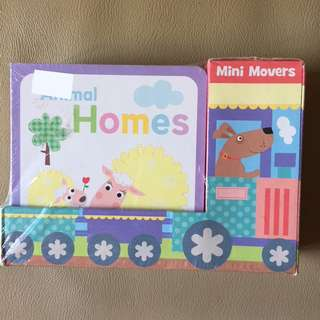 Mini Movers First Concepts includes 6 board books