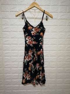 Floral casual dress soft stretchable