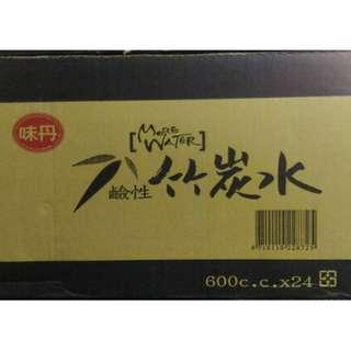味丹鹼性竹炭水600cc (24入)/箱 ~(有到府配送服務,僅送舊台南市及永康區),來店自取再優惠!