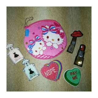 Patches and Pins + FREE HK PURSE
