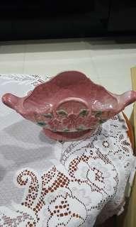 Flower designed ceramic vase