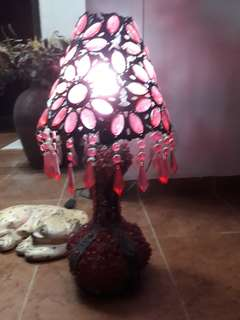 Vintage Moroccan red ruby table lamp