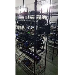 Hosting GPU ASIC mining rigs