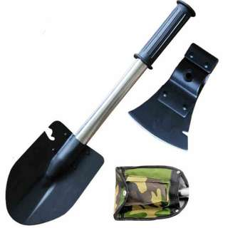 Survival 2in1 Emergency Camping Hiking Knife Shovel Gear Kit
