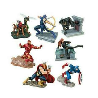 Marvel Disney Store Figurine Playset The Avengers