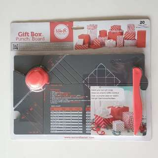 BNIP We R Memory Keepers Gift Box Punch Board