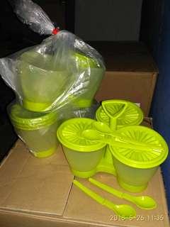 Condimate Green Tupperware