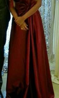 紅色婚宴晚裝敬酒裙