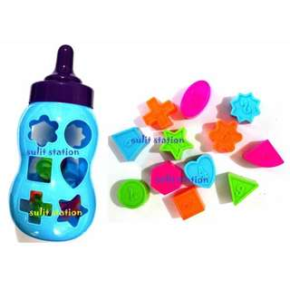 BABY FEEDING BOTTLE SHAPES EDUCATIONAL MIND GAME TOYS