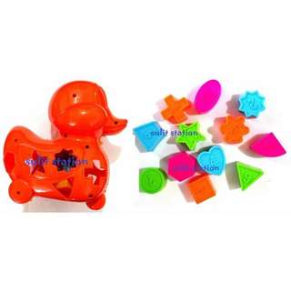 DUCK EDUCATION MIND PUZXLE SHAPES SORTER GAME TOYS