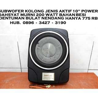 "Subwofer QuadtAudio Aktif 10""Kolong Mantap Katapang SoReaNG"