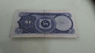 Old currently note of RM1