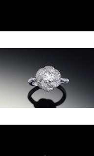 🚚 GIA鑽石 18k金豪華鑽石戒 求婚結婚戒0.5克拉