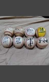 (收藏品)中華職棒球員簽名球