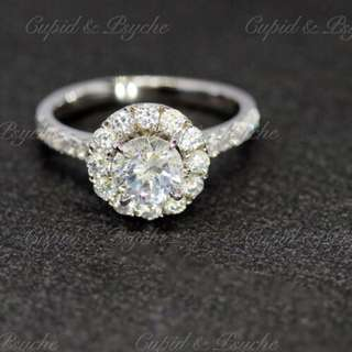 RG207124 Cupid & Psyche Jewellery 戒指 一卡 主石 求婚戒指 鑽戒 18K 鍍鉑金 925silver 蘇聯石 ENGAGEMENT RING 禮物
