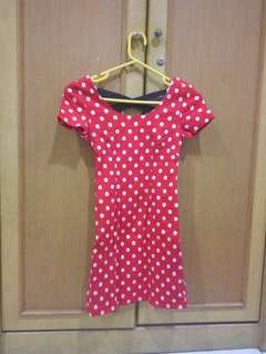 Red polkadot dress Gaudi