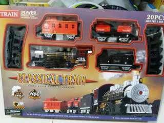 兒童玩具軌道火車,可蒸汽及燈光,全新,適合3歲以上