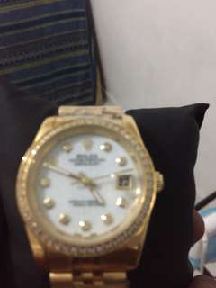 Rolex watch gold plated