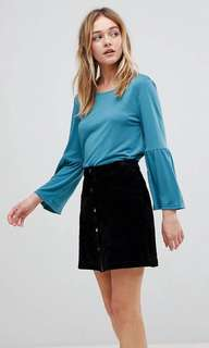 New Asos JDY fluted sleeve top blouse