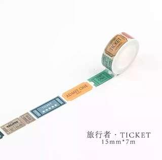 🌸Ready Stock🌸 Ticket Washi Tape per metre