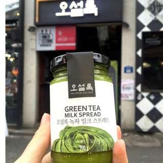 韓國O'sulloc極濃綠茶牛奶醬