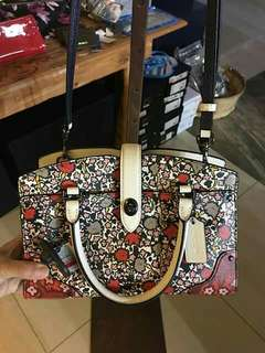 Coach Mercer Satchel 24 In Floral Print